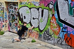 (Eleanna Kounoupa (Melissa)) Tags: street colors painting children graffiti athens greece