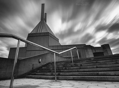 Clifton Cathedral (Paul C Stokes) Tags: uk bw white black canon bristol big long exposure cathedral le lee clifton stopper 1635mm 5d2