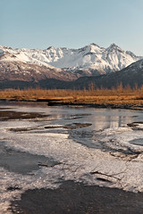 040413 - Shallow water breakup on the Knik (Nathan A) Tags: morning mountains alaska river landscape outdoors spring glenn palmer glacier valley peaks range knik chugach floodplain oldglenn