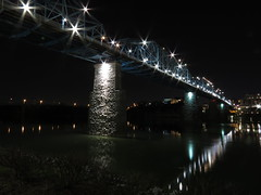 Walnut Street Bridge at Night (SeeMidTN.com (aka Brent)) Tags: bridge chattanooga night tn tennessee walnutstreetbridge tennesseeriver coolidgepark bmok bmok2
