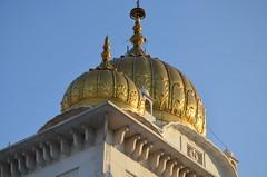 Gurdwara Bangla Sahib (Ginas Pics) Tags: building temple gold worship delhi religion holy dome sacred sikh reflexion sacredsite travelphotography sikhtemple gurudwarabanglasahib sikhreligion 2013ginaspics reginasiebrecht
