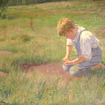"<b>Boy Setting Trap</b><br/> Gausta, #32, Oil, Painting<a href=""//farm9.static.flickr.com/8257/8638184672_c00b3e0abc_o.jpg"" title=""High res"">∝</a>"