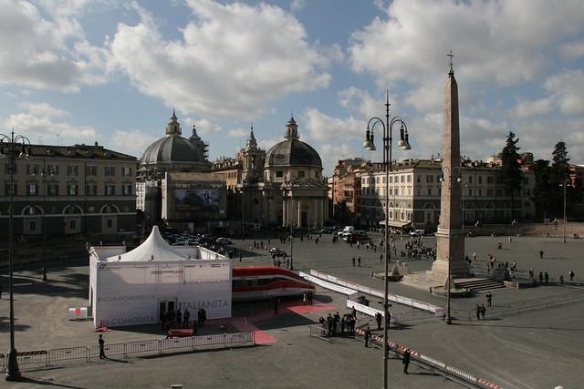 Thumbnail for  #Frecciarossa1000 arriva  a Roma in Piazza del Popolo