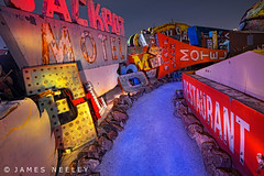 Boneyard 6 (James Neeley) Tags: nightphotography lightpainting lasvegas nevada boneyard lowlightphotography jamesneeley neonsignmuseum