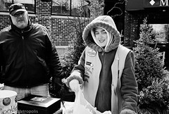 She soaked me for 5 boxes of Girl Scout Cookies. (Marcus Metropolis) Tags: leica white black film analog photography minneapolis uptown mn m6 40mmnoktonf14 xp2ilford400