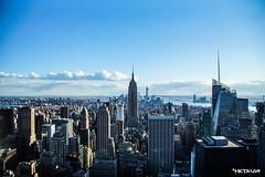 Empire State of Mind (Nic Taylor Photography) Tags: city nyc sky cloud ny newyork skyline clouds skyscraper manhattan empirestatebuilding bigapple topoftherock focuspocus empirestateofmind