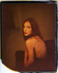 Tribute to Katja XIX (__Daniele__) Tags: portrait mamiya polaroid silk universal expired 125i