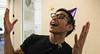 Shooting confetti at him (Sensaet) Tags: birthday party confetti startup surprise paloalto siliconvalley photosharing cooliris