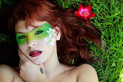 Spring Italy (EllieJD) Tags: flowers red portrait selfportrait verde green art primavera me smile make up fashion yellow tattoo canon hair spring eyes arte head rosa io erba giallo di autoritratto sorriso fiori sole rosso felice prato ritratto rossi tatuaggio melo capelli rossetto caldo allegria