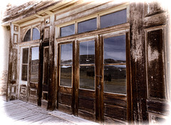 Bodie Storefront (jayvan) Tags: wood glass reflections storefront weathered bodie sonya77