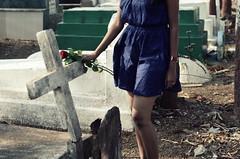 Controversy. (Gattam Pattam) Tags: morning girl graveyard rose dead cross prayer tribute