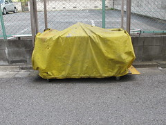 covered (Samm Bennett) Tags: street japan d wrapped covered shrouded draped ayase