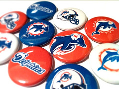 MIAMI DOLPHINS - NFL football pinback buttons - sports team pin set (skippydogdesigns) Tags: new classic sports vintage logo football team miami buttons nfl helmet pins oldschool collection dolphins type fans badges logos collectibles throwback miamidolphins sportsteam pinbackbutton wordmark pinbackbuttons sportslogos sportsfants