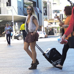 Happy (Grenzeloos1) Tags: city people woman smiling brisbane queensland kinggeorgesquare april2013