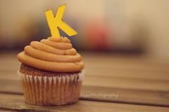 K (Fajer Alajmi) Tags: wood caramel cupcake letter