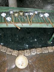 #8657 washing coins in spring (Nemo's great uncle) Tags: kamakura  kanagawaken  kanagawaprefecture zeniaraibenzaitenshrine