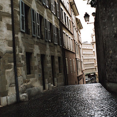 Geneva (Peter Gutierrez) Tags: street old city urban alps streets building film public architecture buildings schweiz switzerland town photo europe european suisse geneva geneve pavement maisons swiss centre center sidewalk peter gutierrez helvetica svizzera maison rue genve ginevra rues vieux vieille ancienne genf svizra historiques petergutierrez genva