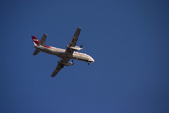 The plane (DavidAndersson) Tags: blue red sky up plane golden looking tamron18200f3563 seisg