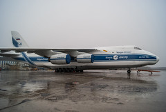 An-124 Ruslan (n_dunaev) Tags: rain weather clouds airplane shower spring airport russia moscow aircraft an cargo spotting dme planespotting antonov an124 domodedovo volgadnepr