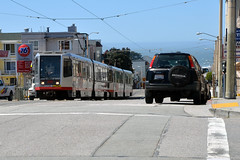 Muni 1448 [San Francisco tram] (Howard_Pulling) Tags: sanfrancisco camera usa america us nikon tram april trams strassenbahn 2013 hpulling d5100