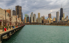 Chicago from Navy Pier (Darren LoPrinzi) Tags: city sky urban chicago skyline canon pier cityscape skyscrapers perspective cityscapes chitown lakemichigan highrise leadinglines canoneos7d canon7d