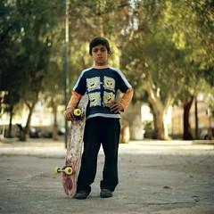 Street dawgg (Salt.as) Tags: street 120 6x6 square kid kodak bokeh greece skate skateboard medium format gypsy kiev 160vc portra 6c patras possing