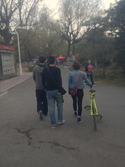 fixed gear friends. (brendan gibson) Tags: china friends apple bike asia chinese gear inner mongolia fixed fixedgear prc 4s iphone innermongolia hohhot babytomato appleiphone4s