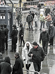 Jenna -Loiuse Coleman - Dr Who filming on Trafalgar Square (Nikon D7100) (markdbaynham) Tags: street city urban london square nikon who dr capital trafalgar cropped format coleman dslr filming dx apsc 18105mm jennalouise
