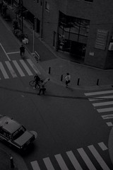 Apr. 23, 2013 (Kaz_Ngo) Tags: above bw film monochrome tokyo mf intersection overhead rollei35