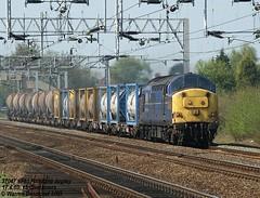 37047 6F61 Acton Bridge 17.4.03 (Desdemona 77) Tags: warrington lane folly northwich 6f61 arpley 37047