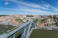 Porto, Portugal (Benjamin Gillet) Tags: city bridge sky panorama cloud portugal monument underground subway landscape town metro cloudy maria ngc tube ciudad eiffel ciel porto national douro pont 24 1991 mm 24mm pia nuage paysage oporto ville 1877 gustave ngg nuageux thophile seyrig domlus