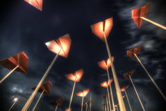 Trio Skies (Faisal Bin Zarah) Tags: sky clouds skies saudi lightning riyadh hdr orooba