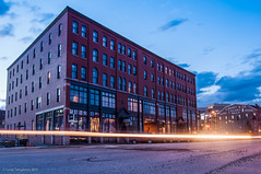 Baxter Place (Corey Templeton) Tags: street city sunset urban building night portland other nikon downtown maine portlandmaine baxter oldport commercialstreet d90 baxterplace