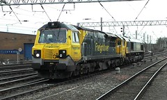 70 003 and 66 515 Freightliner pair. (Raymondo166) Tags: station train gm no pair 66 class together ge 70 carlisle 003 approaching 515 freightliner coupled powerhaul