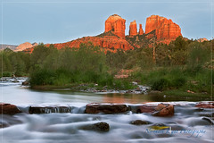 Cathederal Rock (Northern Light Photography by Robert Byrne) Tags: arizona mountain rock forest waterfall sedona formation nationalforest riverfront redrock rockformation greyheron coconinonationalforest cathederalrock yavapaicounty