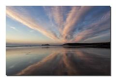 Mirror beach (Simon Bone Photography) Tags: sea sky cloud sun beach silhouette reflections mirror sand cornwall waves godrevy gwithian cornishcoast cornishsunsets canoneos5dmkii hitechnd09reversegrad wwwsimonbonephotographycouk canonef24105mmislf4