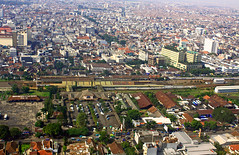 Bandung from my Perspective (Praminto Nugroho) Tags: city station buildings downtown cityscape view panoramic aerial explore bandung