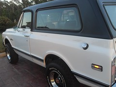 71K5Blazer_2k_rear_left (Monaco Luxury) Tags: auto bar 1971 ps pb stereo chevy 350 roll custom blazer resto k5 pristine frameoff
