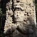 Statua maya nel parque La Concordia