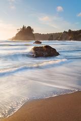 Trinidad State Beach (mibreit) Tags: california light sunset beach strand coast licht sand warm waves sonnenuntergang trinidad kalifornien kste wellen
