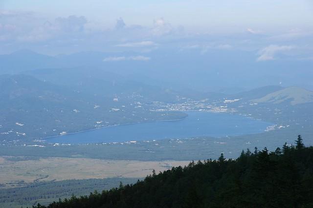 富士山5合目から見る山中湖|富士山五合目