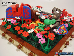 The Picnic (nerowCZ) Tags: cow picnic lego blackknight legocastle barding