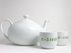 Sake set with Pi (lltownley) Tags: green geek geometry pi sake numbers math 314 shotglass sakeset algebra teabowl setoftwo