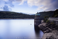 Elan Valley Reservoir. (Ollie Smalley Photography (OSP)) Tags: road old longexposure blue sky holiday motion black green tower yellow wales clouds forest canon eos countryside movement raw horizon rocky historic reservoir motionblur le rush vegetation getty 5d remote welsh 24mm manual slate geology foilage iconic manualfocus clearsky clearing gettyimages manfrotto valleys slowexposure osp geological elanvalley cloudage 24105mm manualexposure 2013 exposureblend canon24105mm cs5 5d2 5dii canon5dmarkii adobephotoshopcs5 lightroom5 clouddrag olliesmalleyphotography
