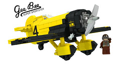 1 - LEGO Ideas Gee Bee Z (buggyirk) Tags: usa yellow digital race speed plane airplane flying 3d lego brothers designer granville render aircraft massachusetts great super disney retro bee depression record trophy springfield z minifig gee ideas propeller thompson pilot prop speedster racer lowell rocketeer winger minifigure the moc afol ldd bayles cuusoo buggyirk