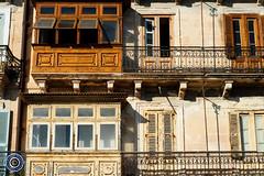 Valletta Balconies (2) (Michael N Hayes) Tags: malta valletta mediterranean europe balconies summer fujifilmxpro1 sea culture city