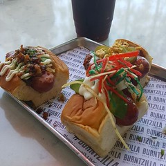 Lunch. Mini dogs.