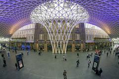 Kings Cross Rail Station, London (Digital Biology) Tags: rail station kingscross train london fisheye
