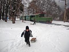 Georgia Borjomi - Bakuriani (peter.velthoen) Tags: sneeuw smalspoor bergspoorlijn mijnbouw snow child playing station snowbank outdoor fun mountains skyingarea neige