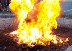 Fire ball (Josh Thompson) Tags: 1855mmf3556g ephraim d7000 doorcounty fireball fishboil oldpostofficerestaurant wisconsin lightroom5